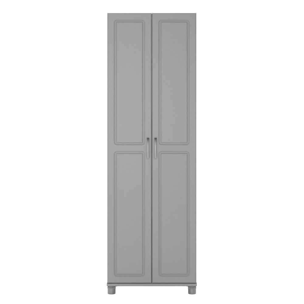 Ameriwood Home Trailwinds 24 in Ashen Gray Utility Storage CabinetHD50889  The Home Depot