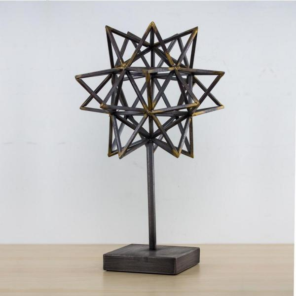 Crystal Art Geometric Metal Star Figurine Stand