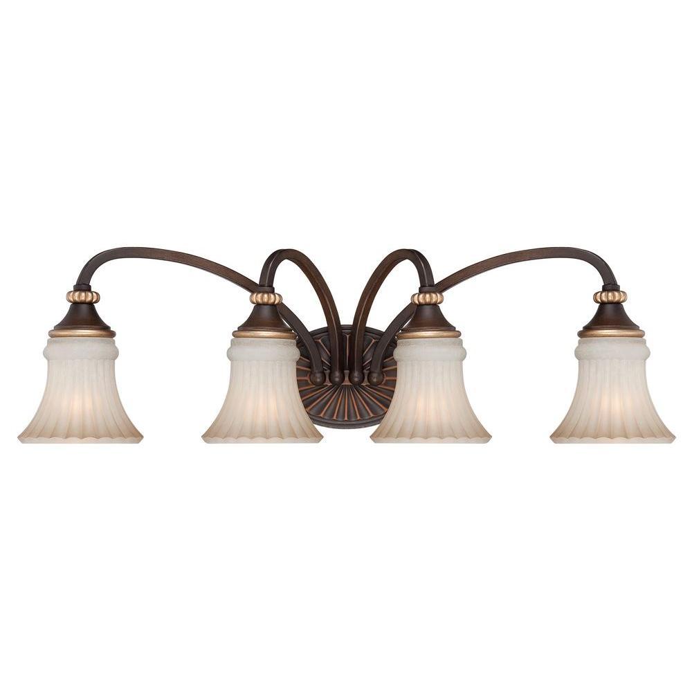 medium resolution of hampton bay reims 4 light berre walnut vanity light with toned driftwood glass shades