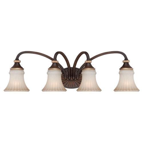 small resolution of hampton bay reims 4 light berre walnut vanity light with toned driftwood glass shades