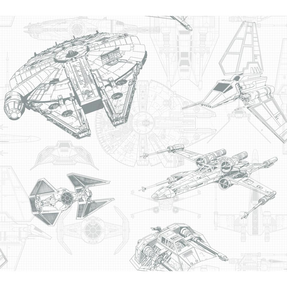 hight resolution of york wallcoverings disney kids iii star wars ship schematic wallpaper dy0305 the home depot