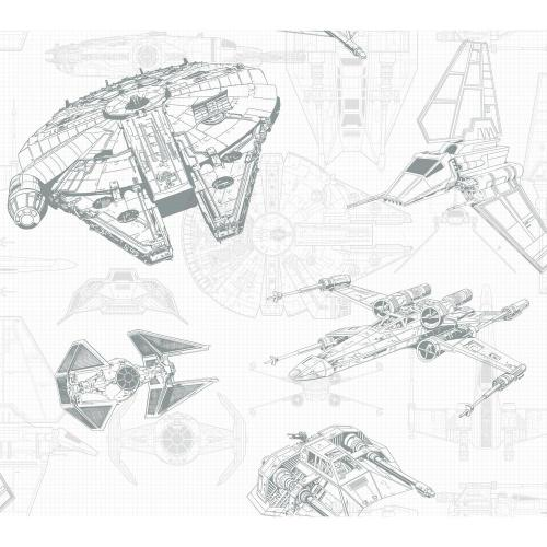 small resolution of york wallcoverings disney kids iii star wars ship schematic wallpaper dy0305 the home depot