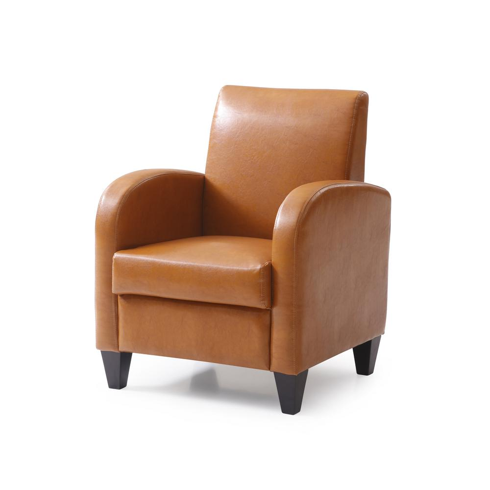 wood frame accent chairs cheap plastic outdoor pu mocha chair with solid legs and frames 90010 16mc the home depot