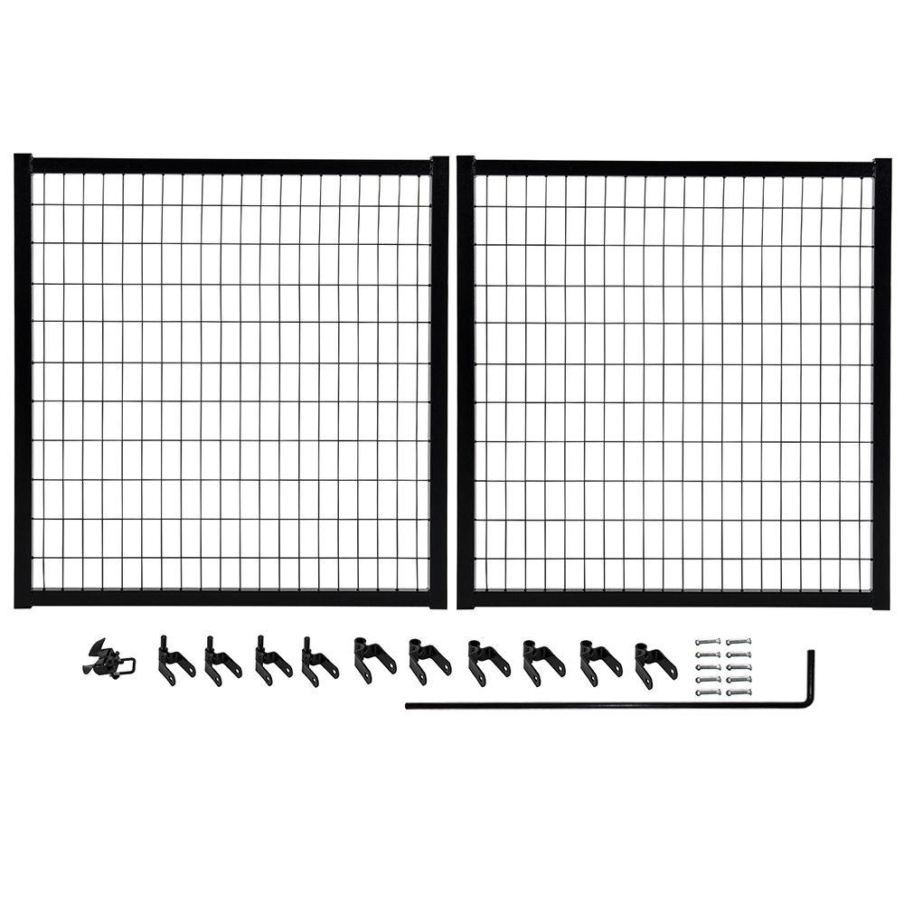 YARDGARD Select 10 ft. W x 4 ft. H Powder-Coated Steel