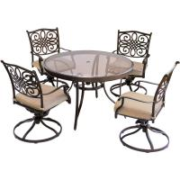 Hanover Traditions 5-Piece Aluminum Outdoor Dining Set ...