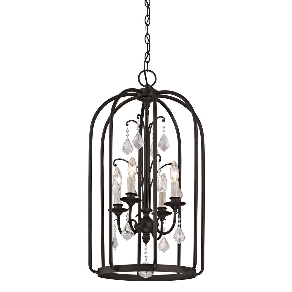 Fifth and Main Lighting Aspen 4-Light Aged Bronze Cage