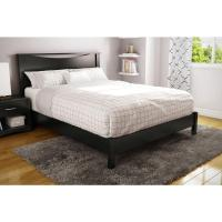 South Shore Step One Queen-Size Platform Bed in Pure Black ...