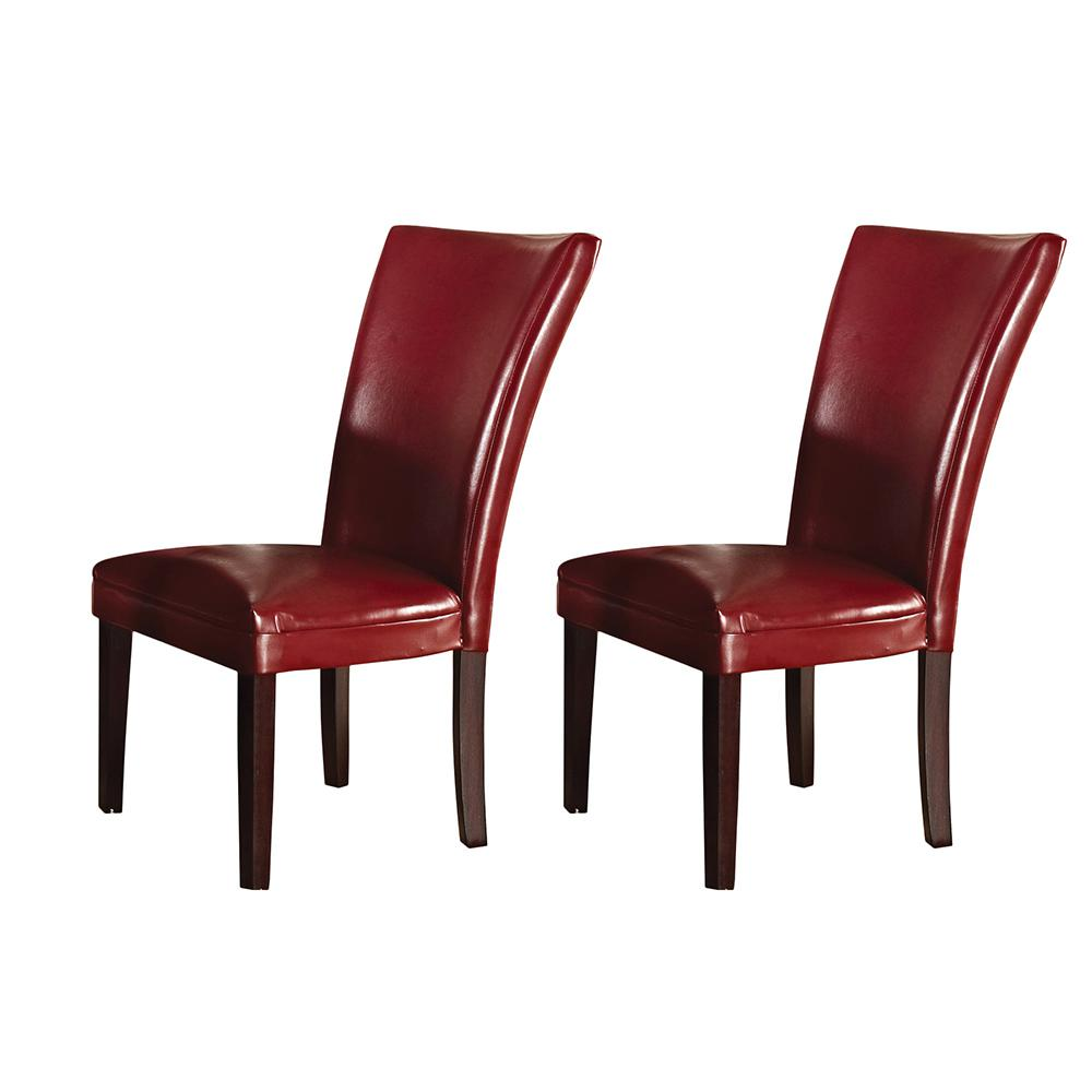 parsons chairs making adirondack chair cushions steve silver company hartford red set of 2 hf500rd the home depot