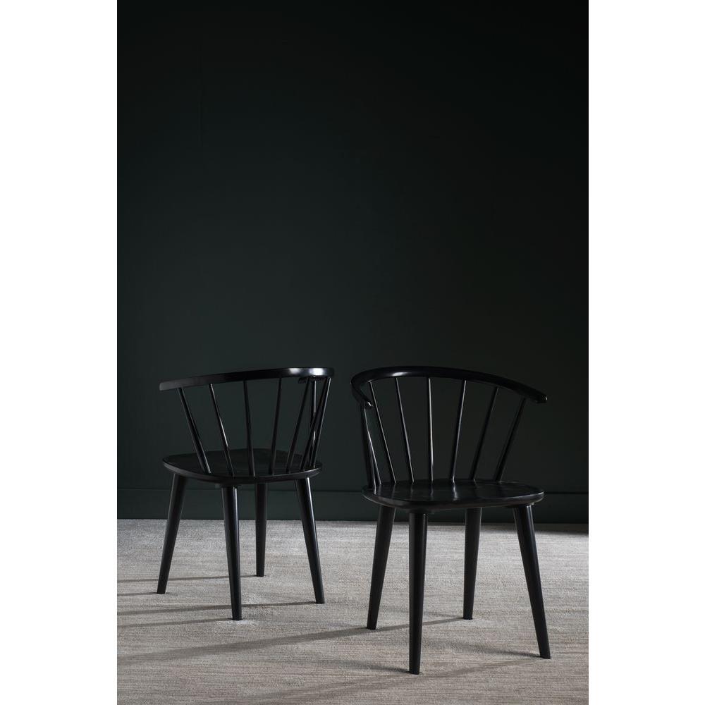 Safavieh Blanchard Black Wood Dining Chair (Set of 2
