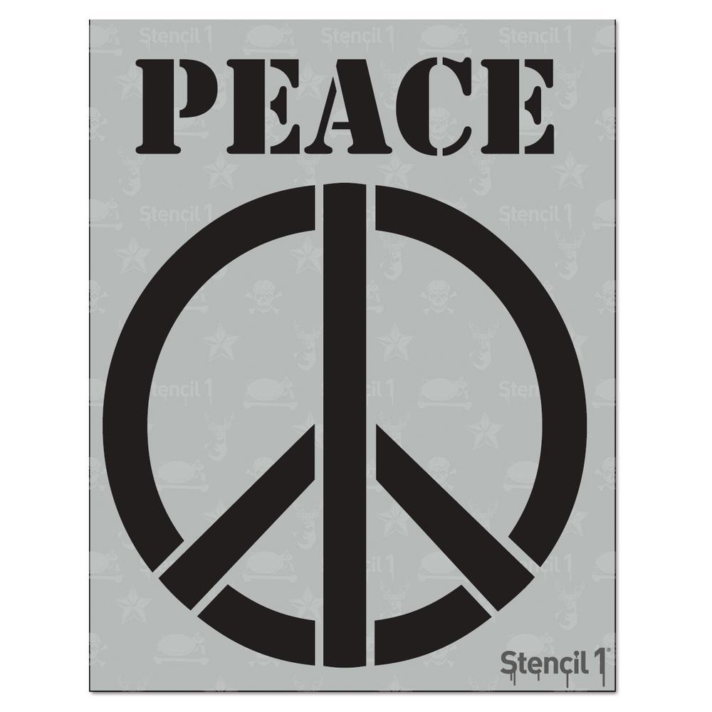 stencil1 peace sign stencil