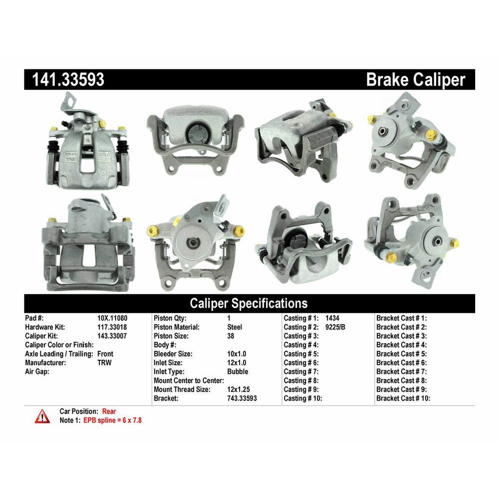 Centric Parts Premium Semi-Loaded Caliper Housing/ Bracket