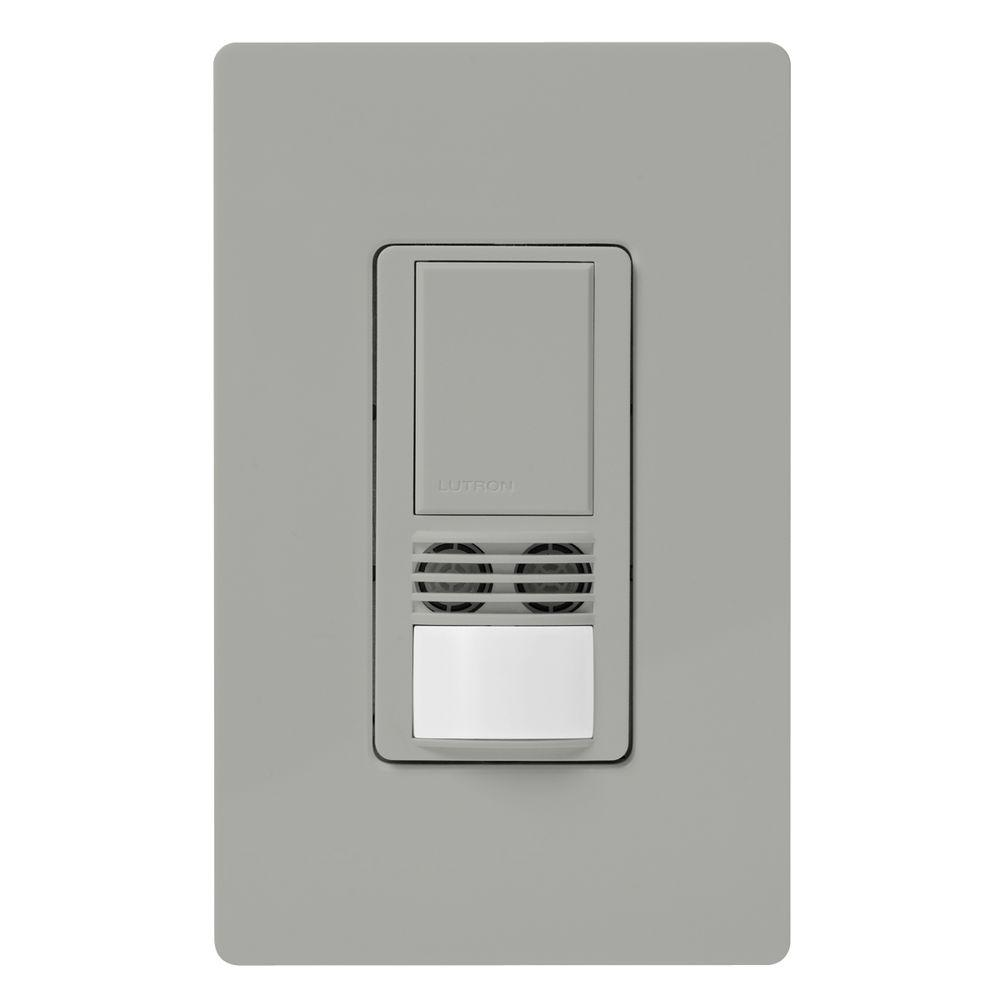 hight resolution of lutron maestro dual tech motion sensor switch 6 amp single pole gray dual technology occupancy sensor on wiring a lutron occupancy switch