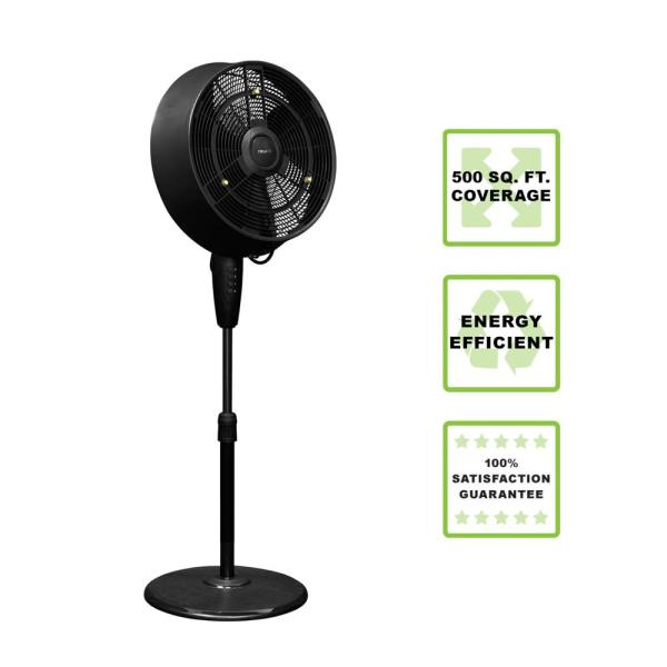 Newair 18 In. 3-speed Oscillating Outdoor Misting Fan-af-520b - Home Depot