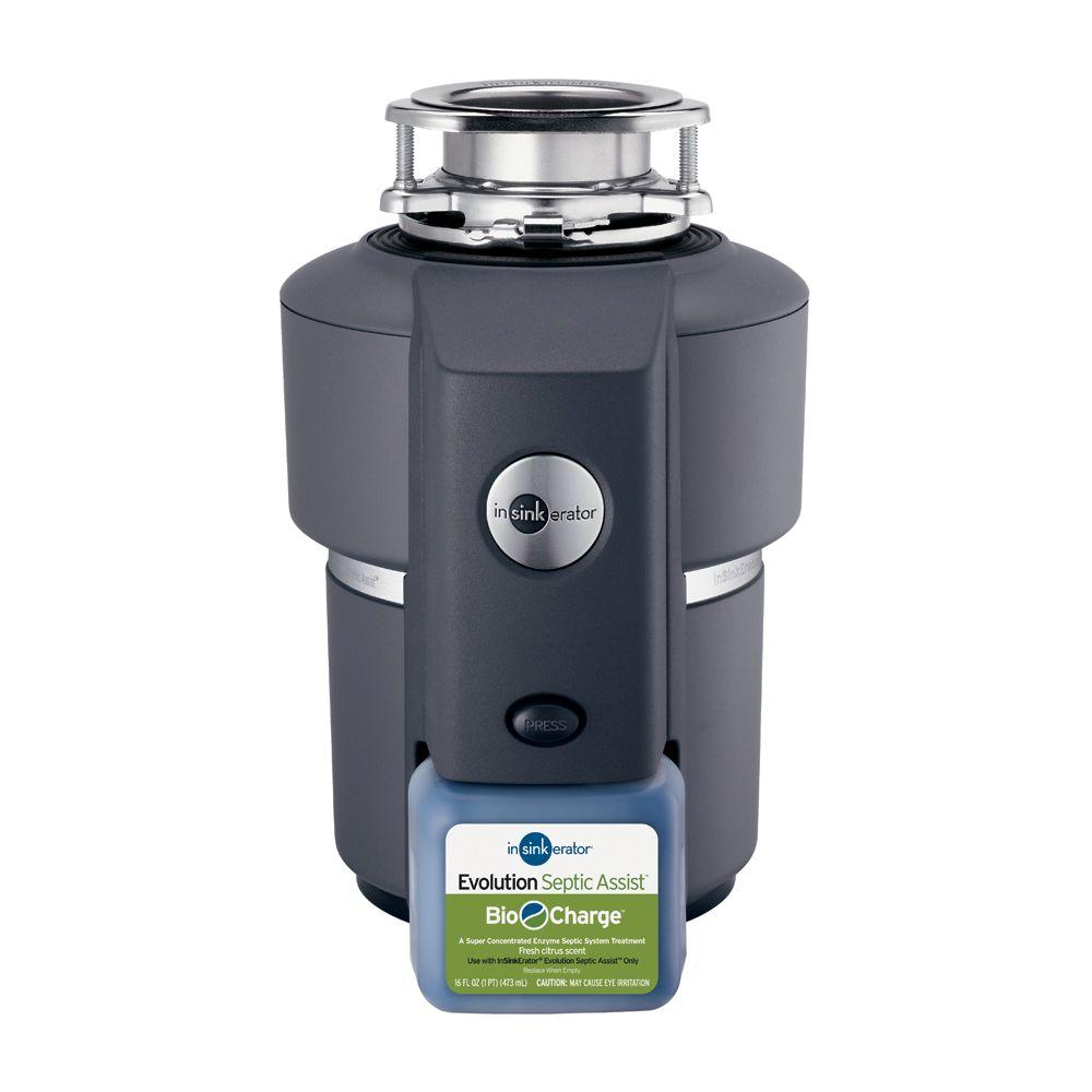 InSinkErator Evolution Septic Assist 34 HP Continuous Feed Garbage DisposalSEPTIC ASSIST  The