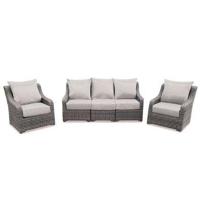 glam sofa set blu dot bed 4 5 person patio conversation sets outdoor lounge cherry hill piece deep seating with cast ash cushions