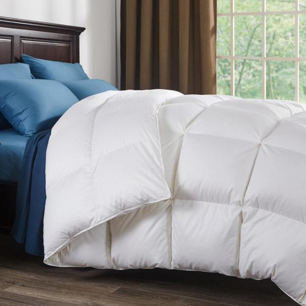 Puredown 800 Fill Power White Goose Comforter 700 Thread Count 100 Cotton Fabric Queen In