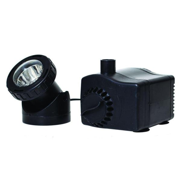 Total Pond 400 Gph Water Shut- Fountain Pump With Led Light-md11400asl - Home Depot