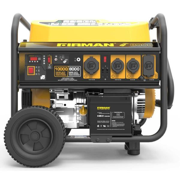 Firman Power Equipment Performance Series 8000-watt 10000-watt Gas Powered Extended Run Time