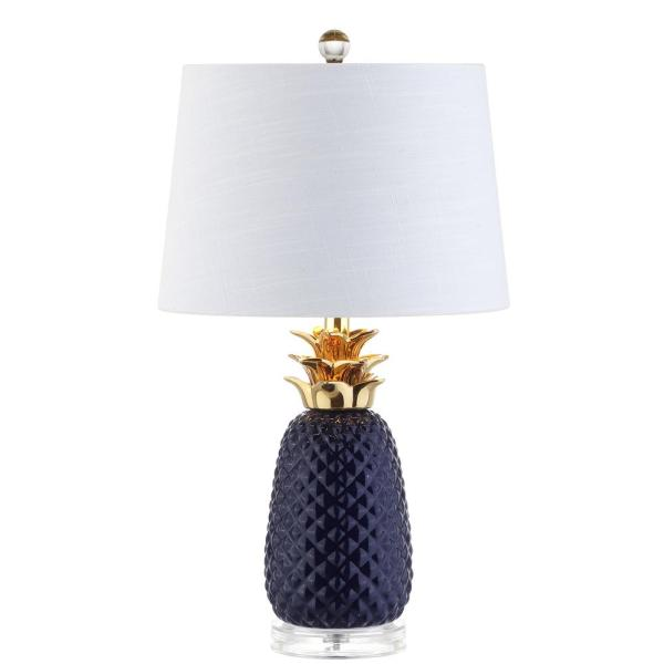 Jonathan Pineapple 23 In. Navy Gold Ceramic Table Lamp