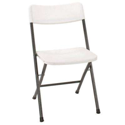 white folding chairs desk chair ergonomic kneeling tables furniture the home depot set of 4
