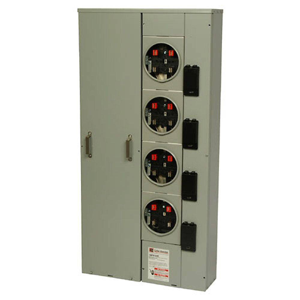 hight resolution of eaton 125 amp 4 socket ring meter socket