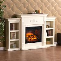 Greenfield 70.25 in. W Infrared Electric Fireplace with ...