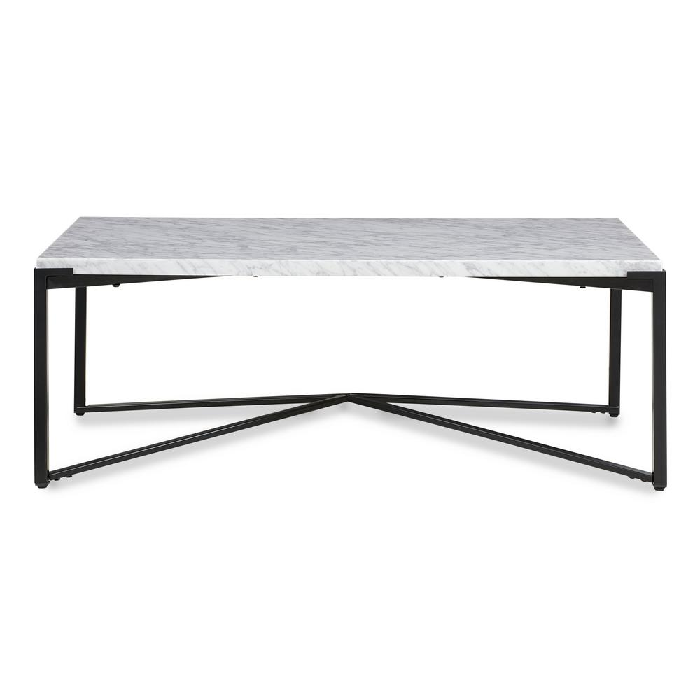 modus furniture saxon 48 in natural large rectangle marble coffee table a9r321 the home depot