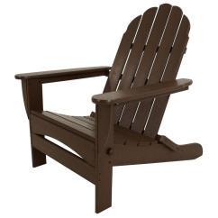 Polywood Classic Adirondack Chair Fold Up Bed Uk Mahogany Oversized Curveback Plastic Patio