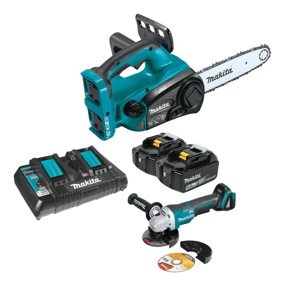 medium resolution of details about makita chainsaw 18 36 volt lithium ion cordless chain saw kits outdoor 12 inch