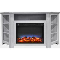 Hanover Tyler Park 56 in. Electric Corner Fireplace in ...
