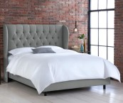 tufted wingback bed linen