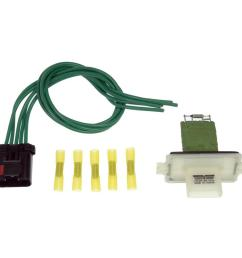 blower motor resistor kit with harness [ 1000 x 1000 Pixel ]