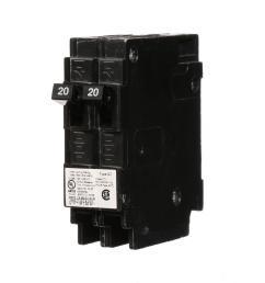 20 amp tandem single pole type qt circuit breaker [ 1000 x 1000 Pixel ]