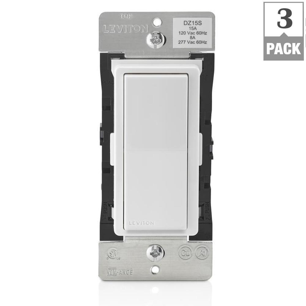 hight resolution of decora smart with z wave technology 15 amp switch white light almond