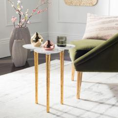 White Living Room Side Table Shelving Ideas For Safavieh Aria And Gold Fox3213a The Home Depot