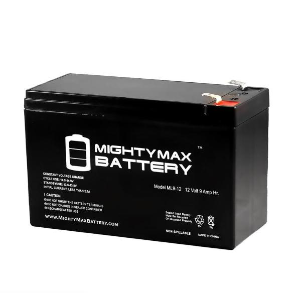 Mighty Max Battery 12-volt 9 Ah Sealed Lead Acid Sla Rechargeable Battery-ml9-12 - Home Depot