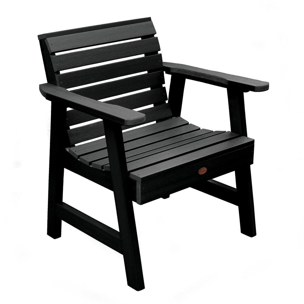 Plastic Lounge Chair Highwood Weatherly Black Recycled Plastic Outdoor Lounge Chair