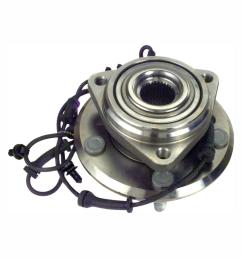 front wheel bearing and hub assembly fits 2012 2015 jeep wrangler [ 1000 x 1000 Pixel ]