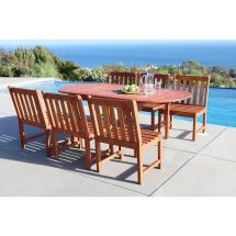 Vifah Malibu 7-piece Oval Patio Dining Set-v1560set4
