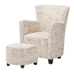 Chairs And Ottomans Upholstered Lucite For Sale Baxton Studio Benson Contemporary Beige Fabric Accent Chair Ottoman Set