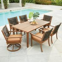 Hampton Bay Kapolei 7-Piece Wicker Outdoor Dining Set with ...
