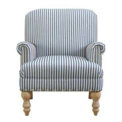 Blue And White Striped Accent Chair Wheelchair Boxing Chairs The Home Depot Joy