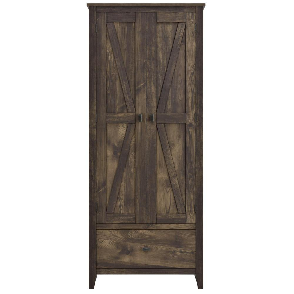 SystemBuild Brownwood 30 in. W Storage Cabinet in Rustic