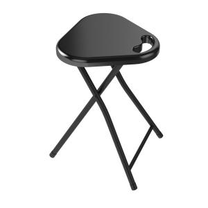 chair stool black ps4 gaming atlantic folding set of 4 38435923 the home depot