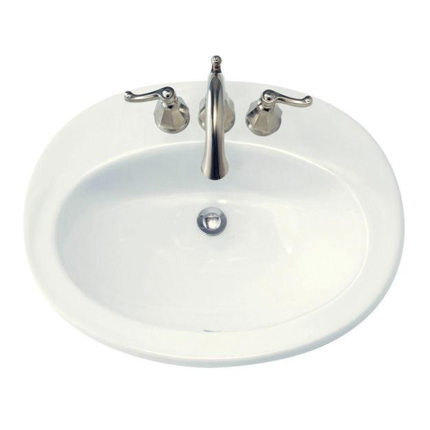 american standard piazza self-rimming bathroom sink in white