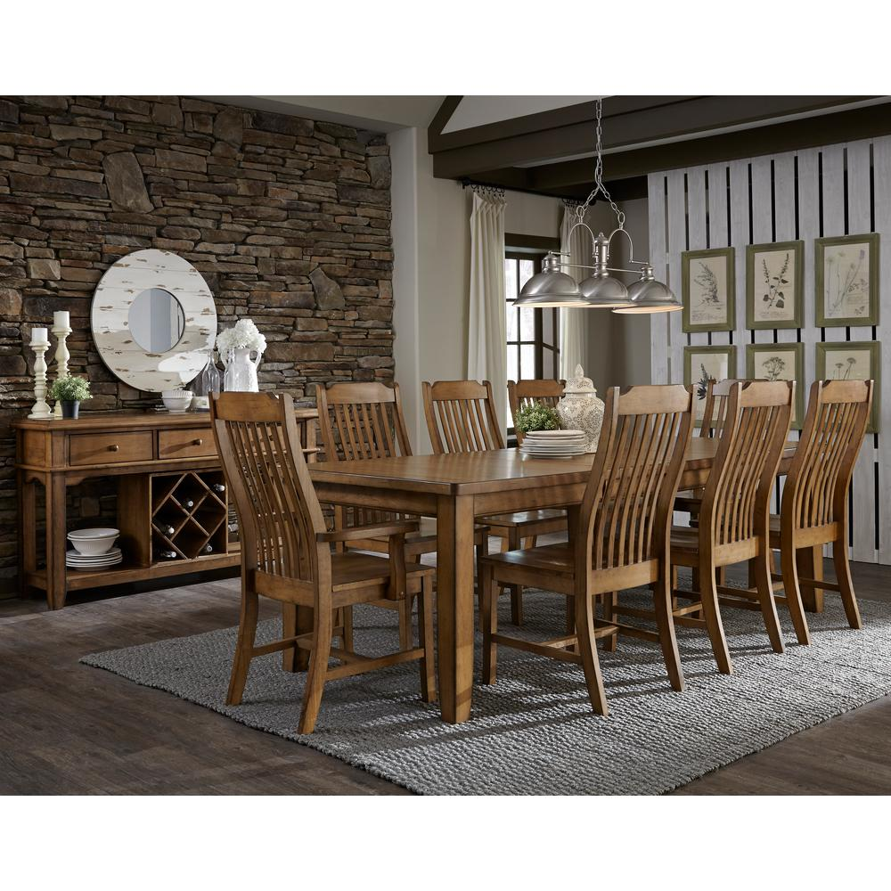 distressed dining chairs cheap folding walmart international concepts pecan wood steam bent mission chair set of 2