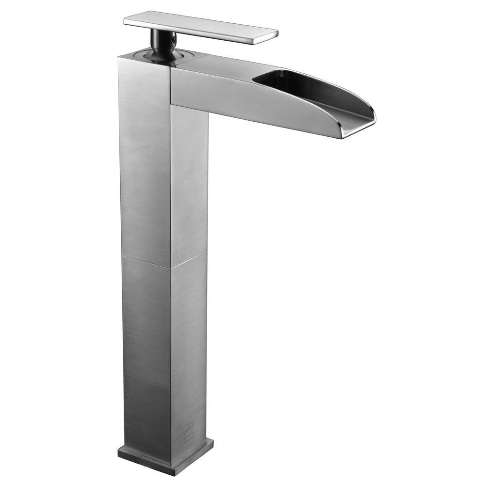 ALFI BRAND AB1597BN Single Hole SingleHandle Bathroom Faucet in Brushed NickelAB1597BN  The