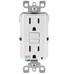 15 amp 125 volt duplex self test tamper resistant weather resistant gfci outlet [ 1000 x 1000 Pixel ]
