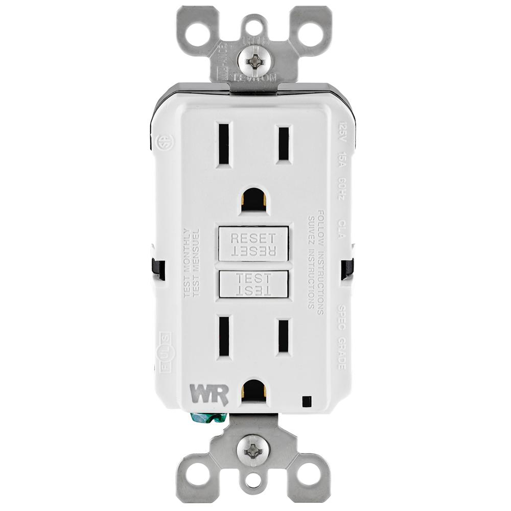 hight resolution of leviton 15 amp 125 volt duplex self test tamper resistant weather resistant gfci outlet white leviton gfci outlet wiring diagram leviton gfci outlet wiring