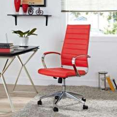 Office Chair Red Modern White Chairs Yes Executive Home Furniture Jive Highback In